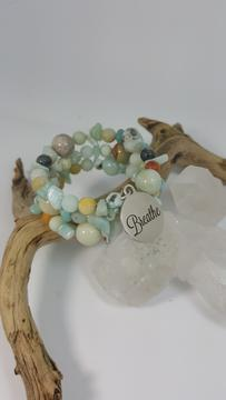 Breath Amazonite and Larimar Bracelet