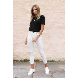Harper Jeans - White Denim