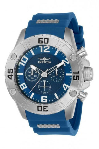 INVICTA PRO DIVER MENS QUARTZ 48MM STAINLESS STEEL CASE BLUE DIAL - MODEL 22697