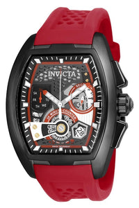 INVICTA DIABLO S1 RALLY MENS QUARTZ 42MM BLACK CASE GUNMETAL, RED, BLACK DIAL - MODEL 25934