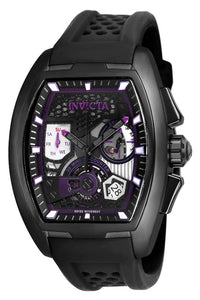 INVICTA DIABLO S1 RALLY MENS QUARTZ 42MM BLACK CASE DARK PURPLE, BLACK DIAL - MODEL 25936