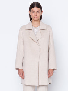 Coat in cashmere double-face