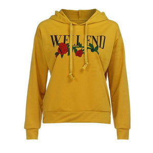 Embroidery Womens Hoodies Rose Hoodie