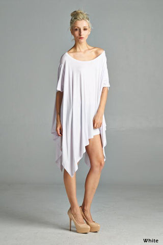 Asymmetrical Top - White