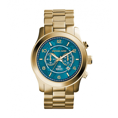 Michael Kors Ladies Watch Hunger Stop Oversized Runway Gold-Tone Watch MK8315