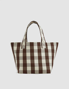 Small Gingham Grocery Tote