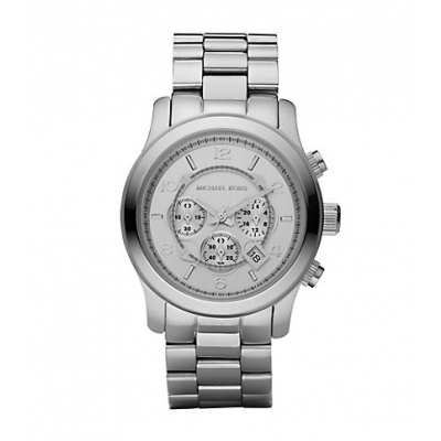 Michael Kors Ladies Runway Oversized Silver-Tone Watch MK8086
