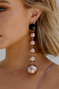 BALL DROP EARRINGS (BRONZE)