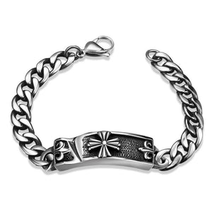 CELTIC INSPIRED STAINLESS STEEL BRACELET
