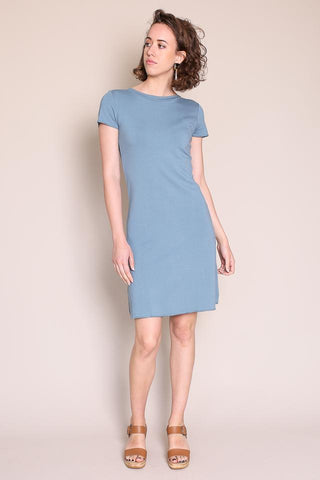 MARINIERE MINI DRESS IN BLEU CORSE
