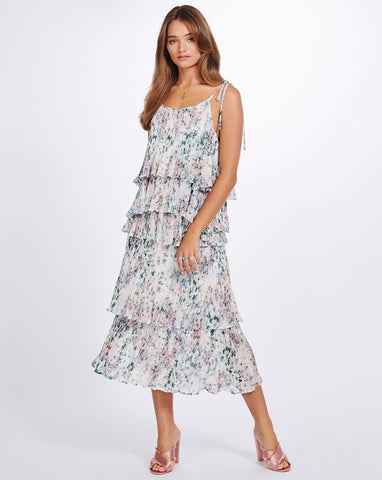 ANAIS PLEATED TIER SKIRT - FLORIST