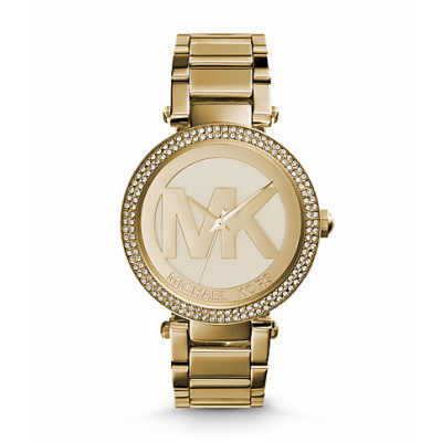 Michael Kors Ladies Parker Pavé Gold-Tone Watch MK5784