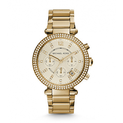 Michael Kors Ladies Parker Gold-Tone Watch MK5354