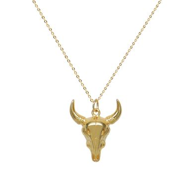 Detailed Longhorn Necklace