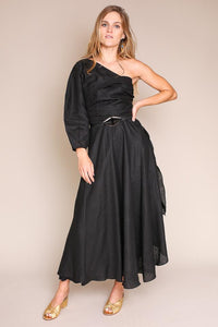 TIPPLE DRESS IN BLACK