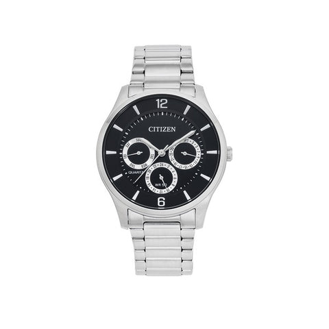 Citizen Mens Q SS WR50 Mineral Black