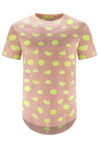 NEW MEN PINK LIME GRAY T-SHIRT
