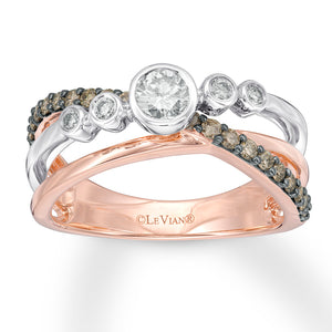 LeVian Ombre Ring 5/8 ct tw Diamonds 14K Two-Tone Gold