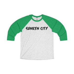 SUNKEN CITY MEN'S TRI-BLEND 3/4 RAGLAN