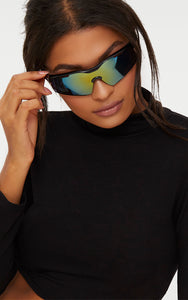 BLACK SPORTS STYLE SUNGLASSES