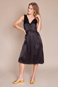 TANK MIDI DRESS IN BLACK