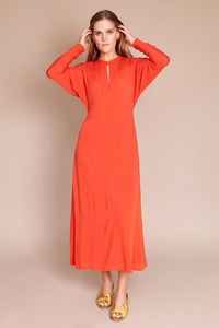 CARELL DRESS IN CORAL