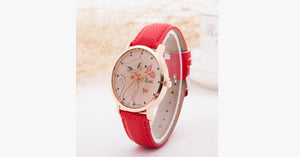 Cat Fashion Cartoon Watch-Red color