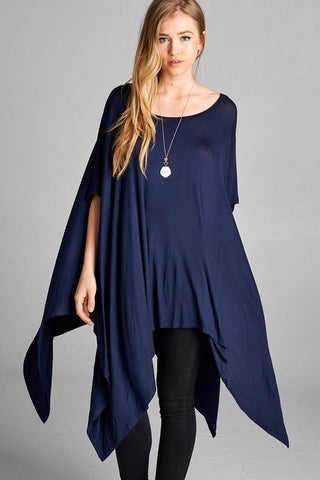 Asymmetrical Top - Navy