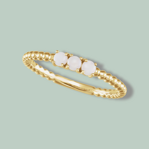Opal Stackable Beaded Ring