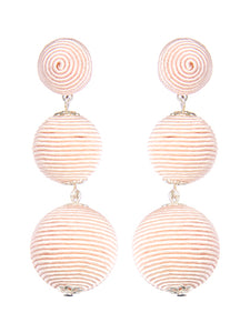 BEADED BALL SHORT EARRING