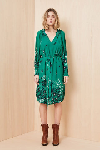 Avalon Petailled Dress / Green