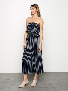 Strapless Stripe Jumpsuit