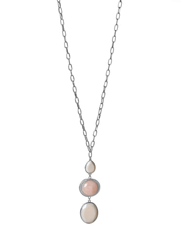 Pink Stone Pendant Necklace