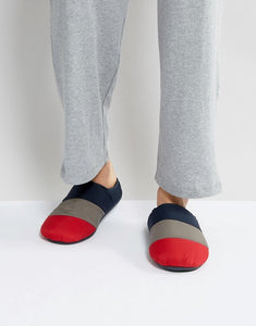 Tommy Hilfiger Icon Down Quilt Slipper in Navy