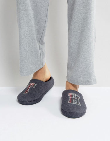 Tommy Hilfiger Cornwall Melton Slipper in Gray