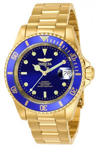 INVICTA PRO DIVER MEN'S AUTOMATIC 40MM GOLD CASE BLUE DIAL - MODEL 8930OB