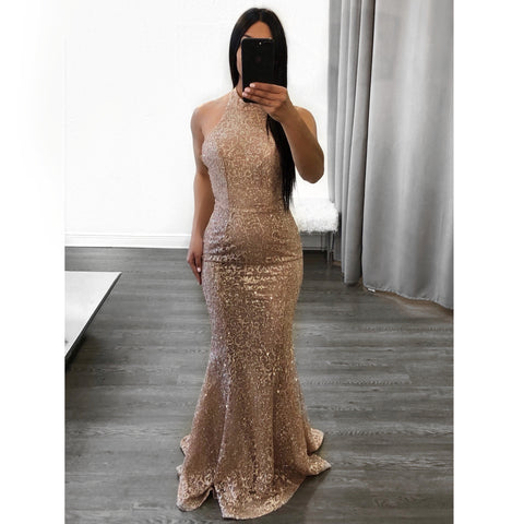 Glam Sequin Gown