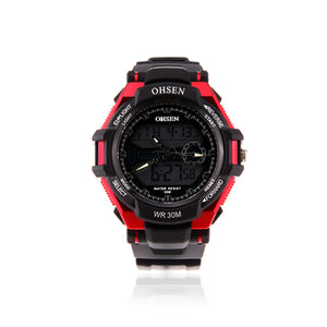 MENS OHSEN WATCHES WATERPROOF SPORT CALENDAR RUBBER MEN WRIST WATCH