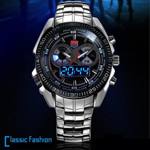 MEN TVG 468 WATCHES 3 DIAL LED DISPLAY ANALOG DIGITAL MILITARY WRIST WATCH