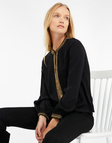 BROOKE EMBELLISHED BLOUSE