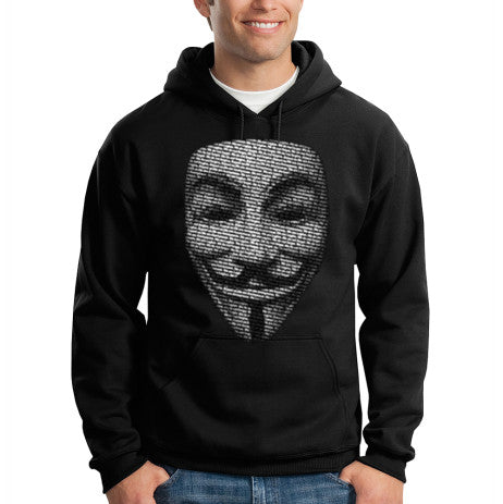 HOODIE HOODED SWEATSHIRT FUNNY ANONYMOUS MASK V FOR VENDETTA OCCUPY 99 PERCENT