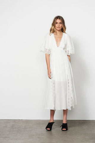 Euphoria Midi Dress / Off White