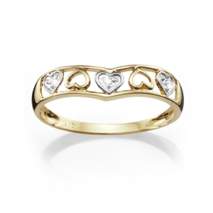 9ct Diamond Promise Ring