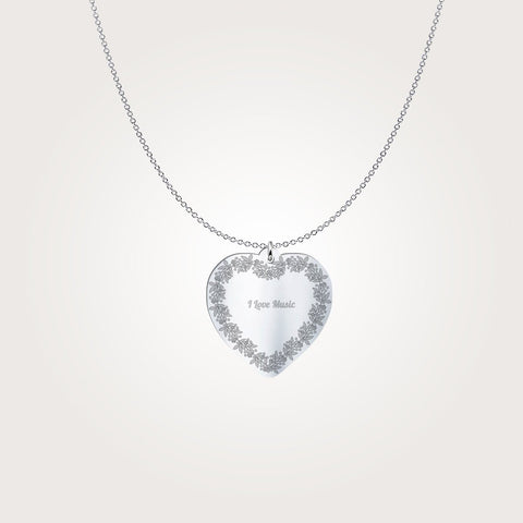 Heart Pendant - I love Music