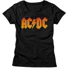 ACDC - DISTRESSED LOGO WOMEN'S T-SHIRT