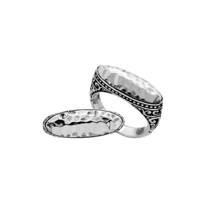 AR-6190-S-6'' Sterling Silver Ring With Plain Silver