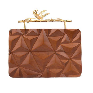 Triangle Wooden Firefly Clutch