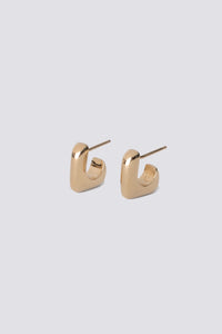 GOLD SMALL J STACK EARRINGS