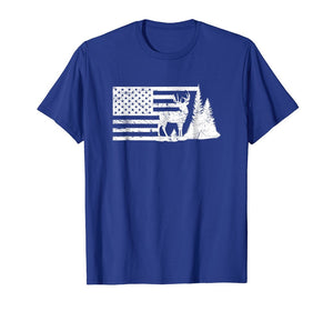 July 4th Flag Shirt Deer Hunter Best Buckin' Dad T-Shirt