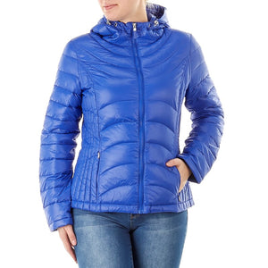 Packable Down Coat with Hood